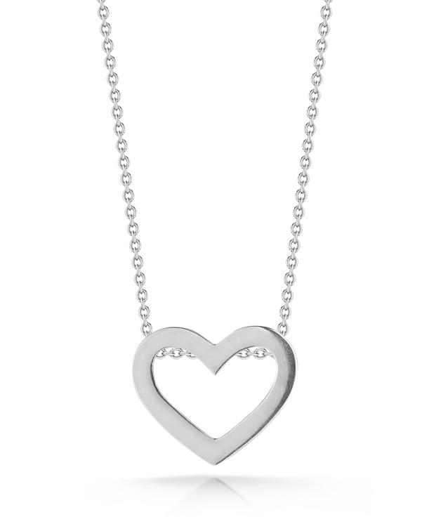 Roberto Coin White Gold Heart Necklace