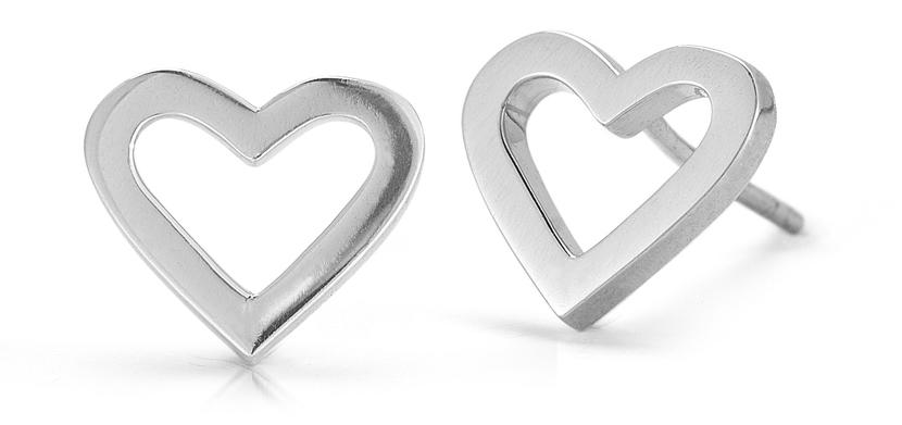 Roberto Coin White Gold Heart Earrings