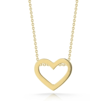 Roberto Coin Yellow Gold Heart Necklace