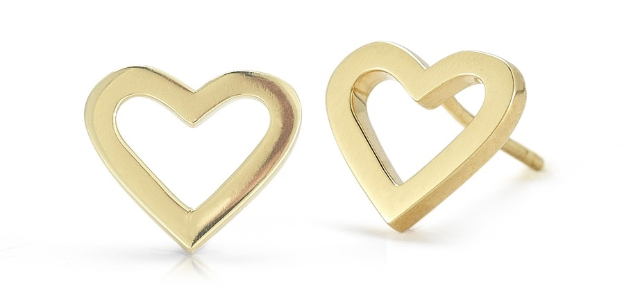 Roberto Coin Yellow Gold Heart Earrings