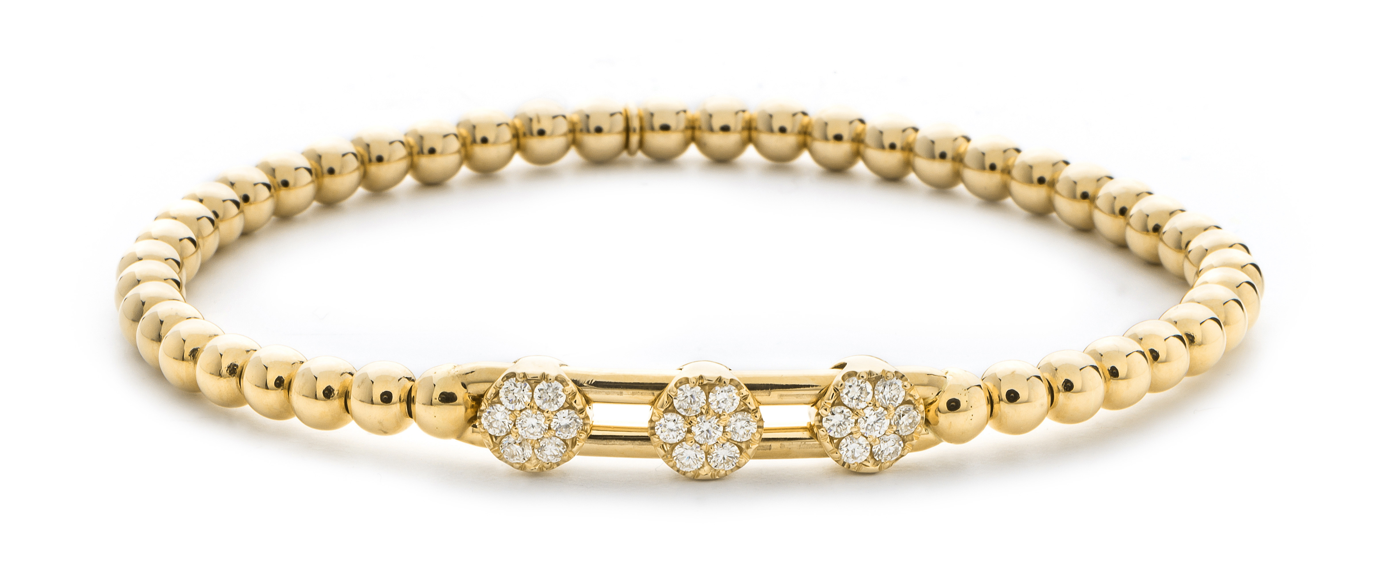 Hulchi Belluni 18K Yellow Gold Diamond Stretch Bracelet