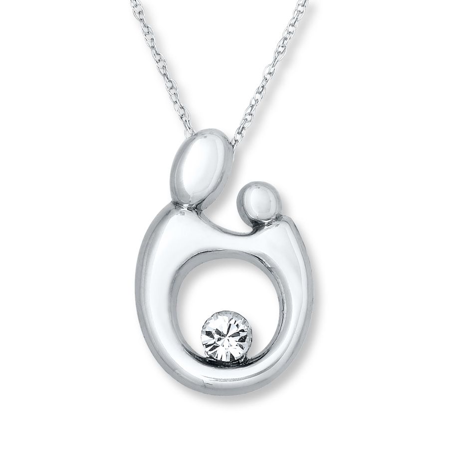 mother and child push present necklace