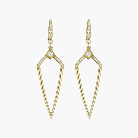 Free Spirited Penny Preville Deco Diamond Shape DIamond Earrings