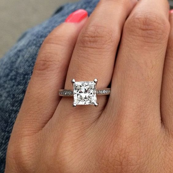 The 7 Best Diamond Shapes For An Engagement Ring Princess Cut Diamond