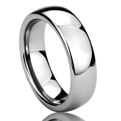 High polished mens wedding band