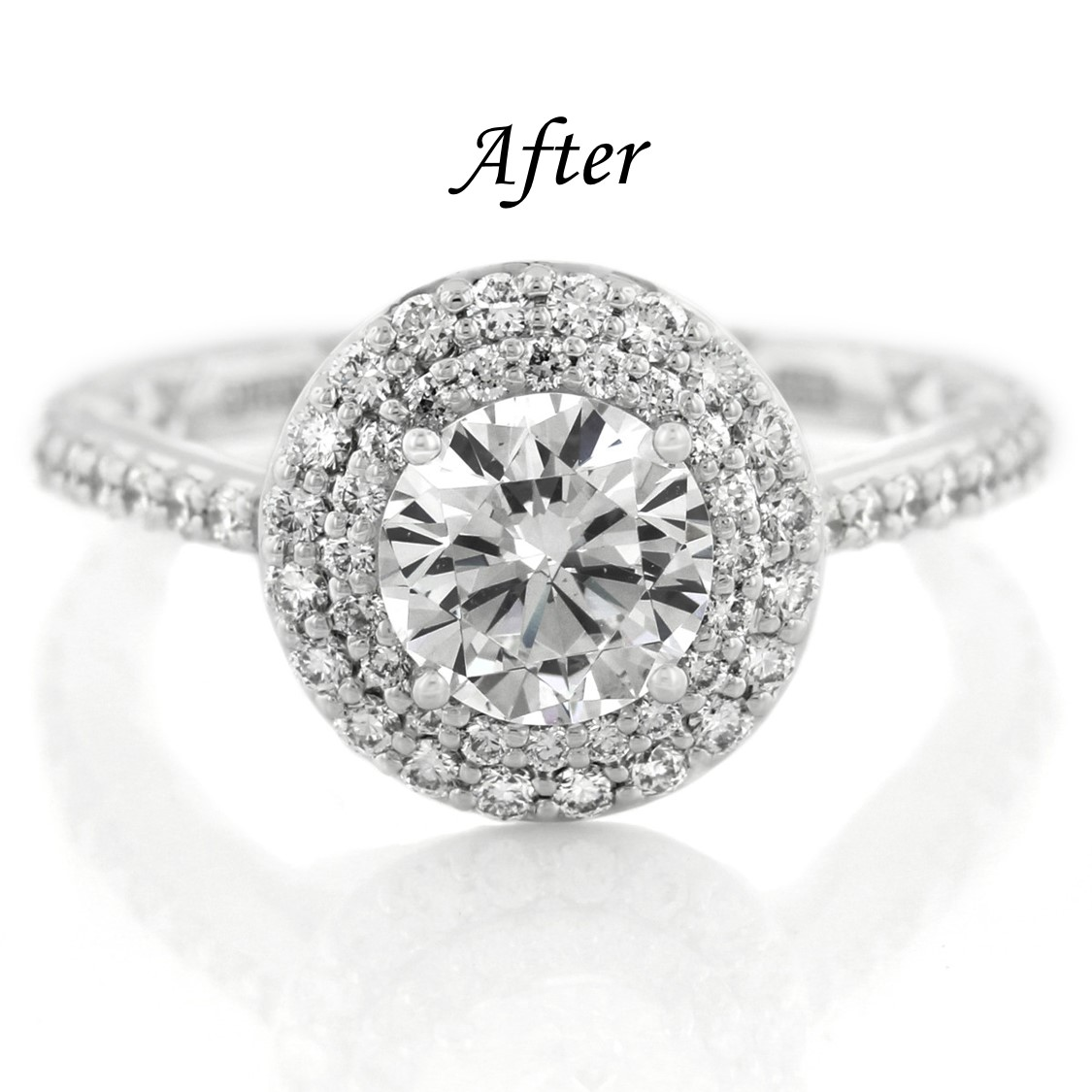 6 Ways To Reset Your Solitaire Engagement Ring - Add A Halo