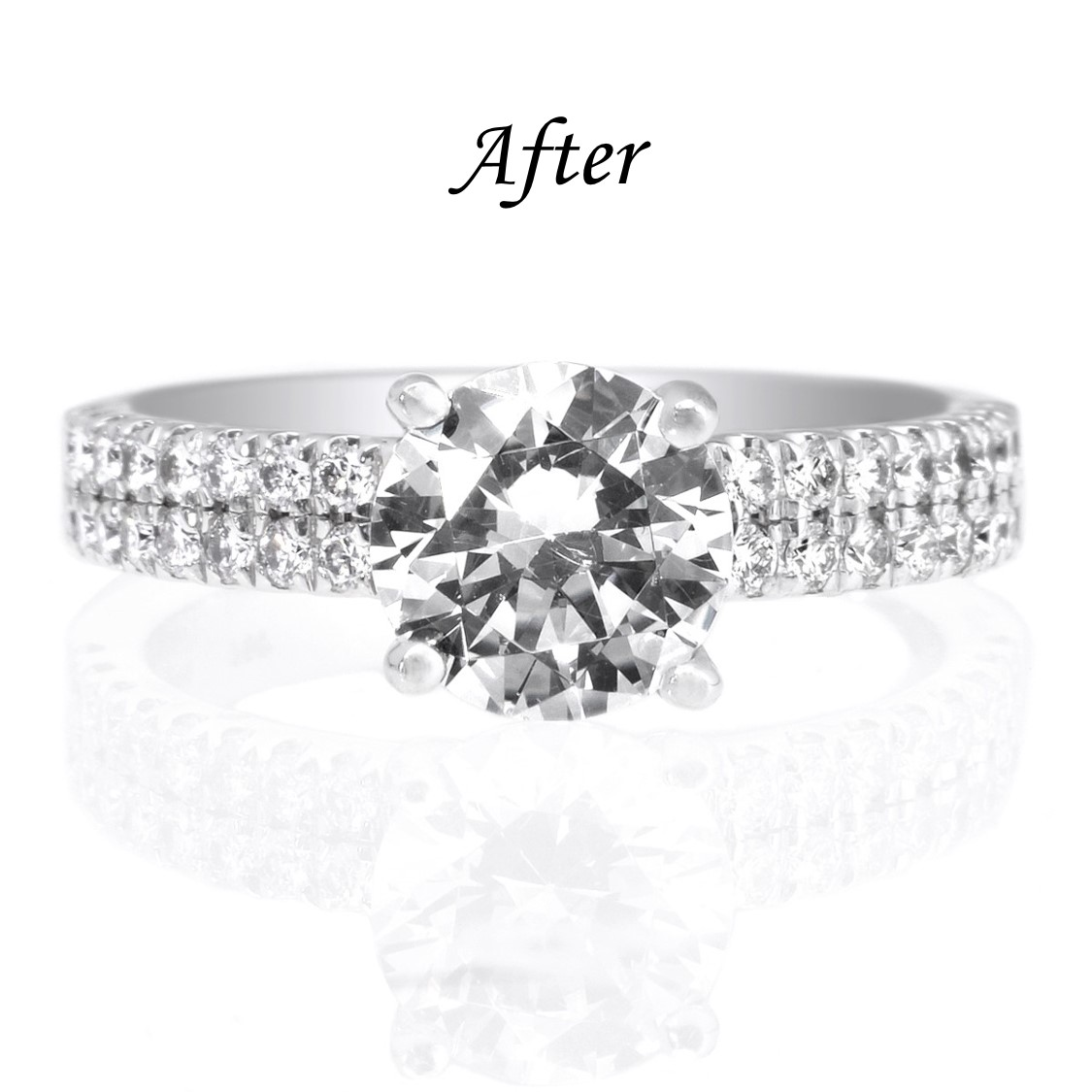 6 Ways To Reset Your Solitaire Engagement Ring - Add Diamonds to Band