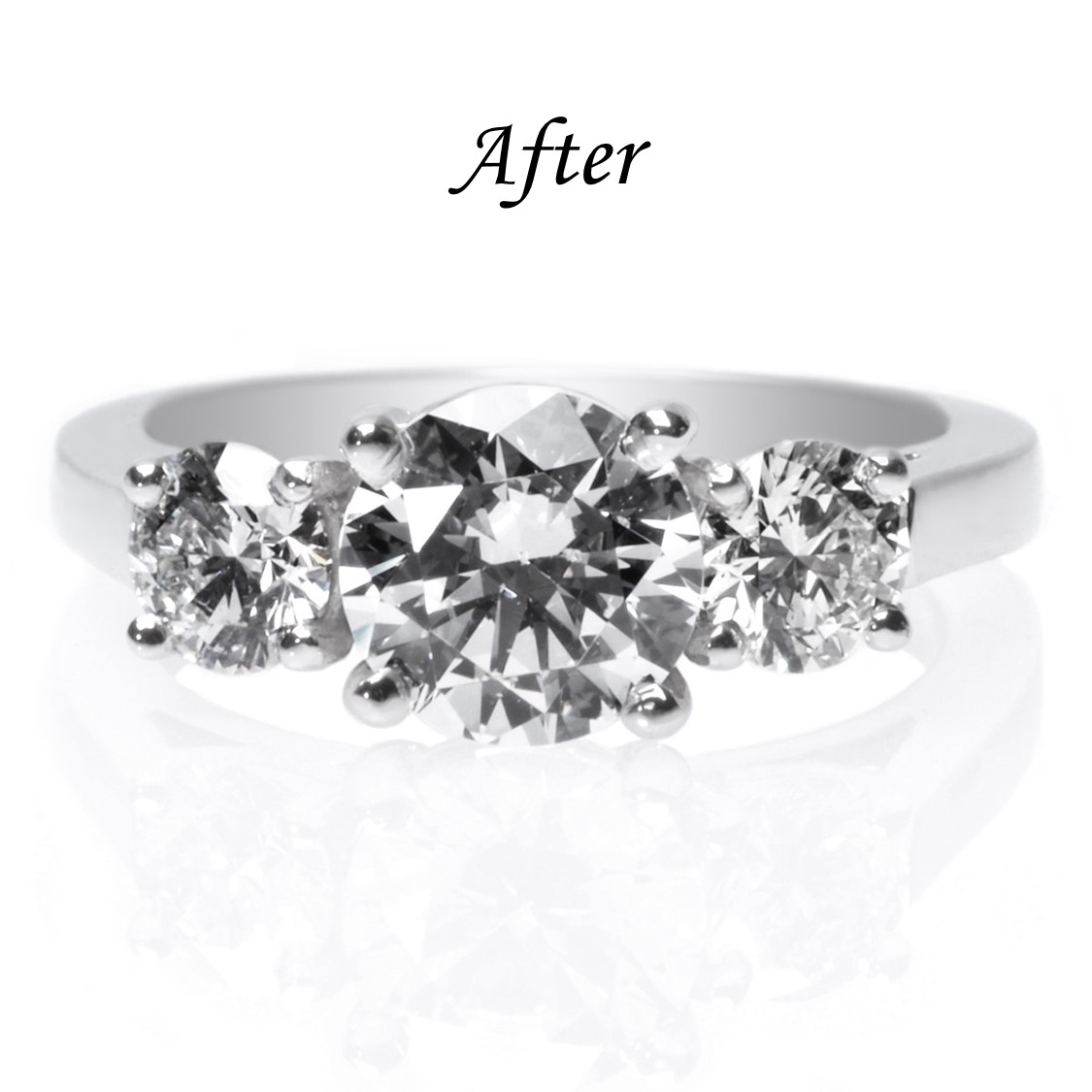 6 Ways To Reset Your Solitaire Engagement Ring - Three Stone Ring