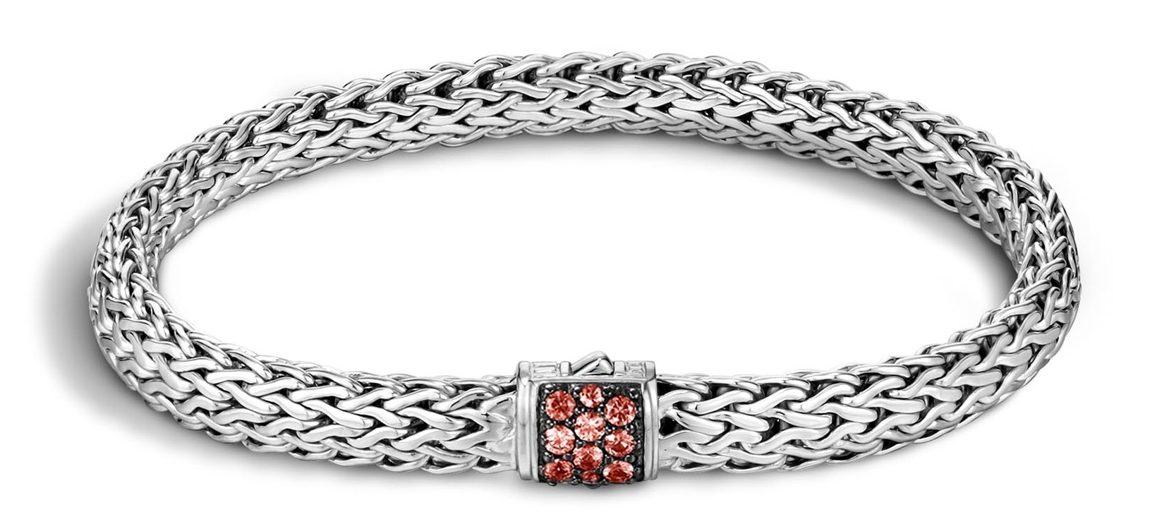 Classic Chain Bracelet with Red Sapphire