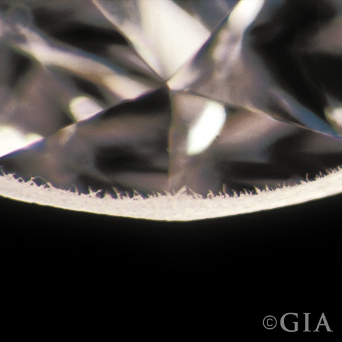 Bearded Girdle Diamond Clarity