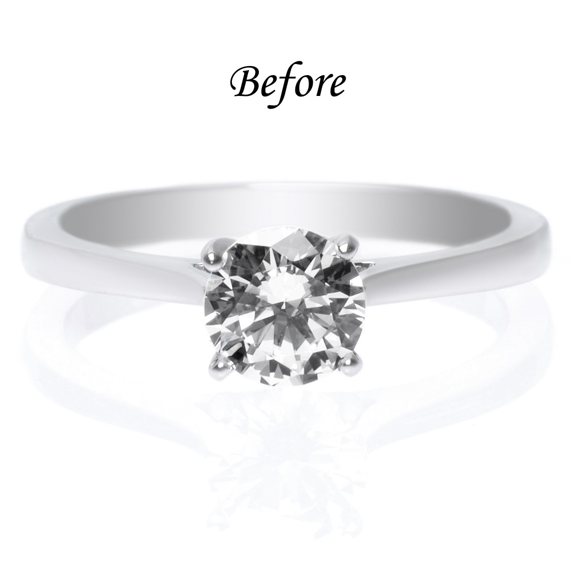 Platinum Solitaire Ring Without Halo