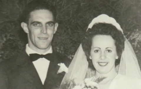 Pop and Betty on their Wedding Day