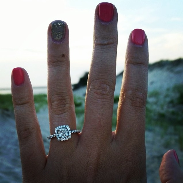 Brian and Amanda - Long's Proposal - Engagement Ring Selfie