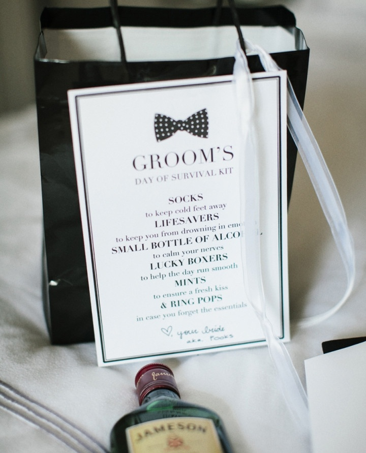 Wedding Gift Guide For Your Groom-To-Be Day Of Survival Kit