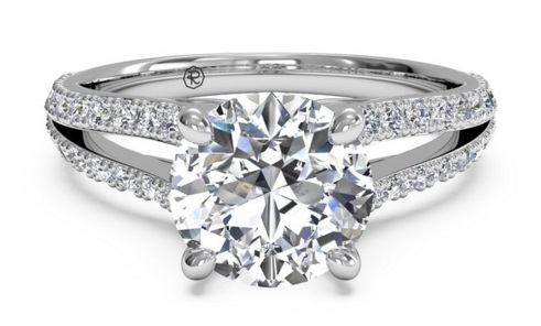 Upgrade Your Band To Something More Sparkly Double Row and V Split - Upgrade Your Engagement Ring