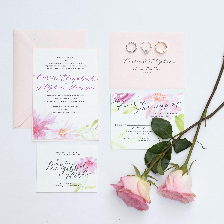 Wedding Invitation Trends Watercolor