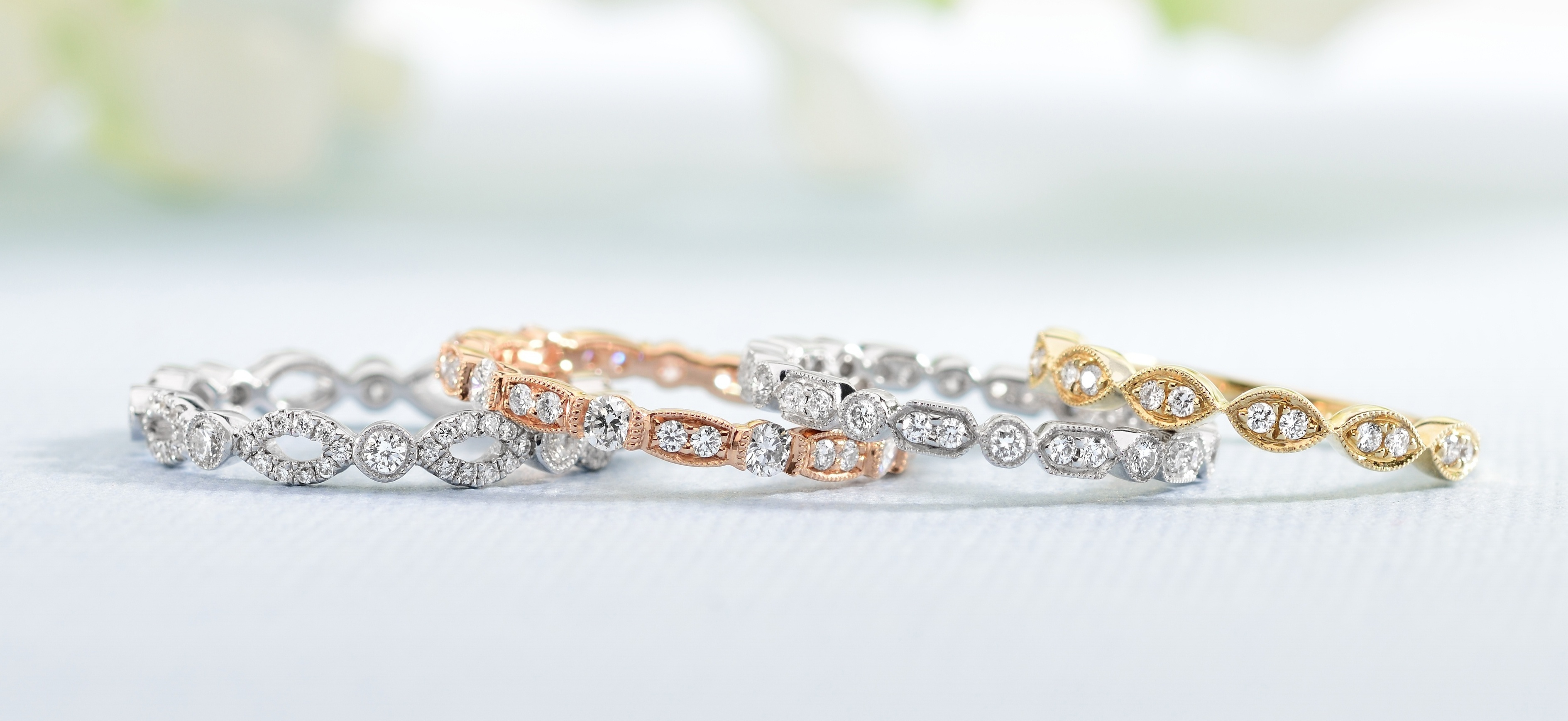 Stackable Diamond Eternity Rings To Mark Your 5+ Year Anniversary