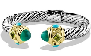 David Yurman Renaissance Bracelet with Opal, Peridot and Turquoise