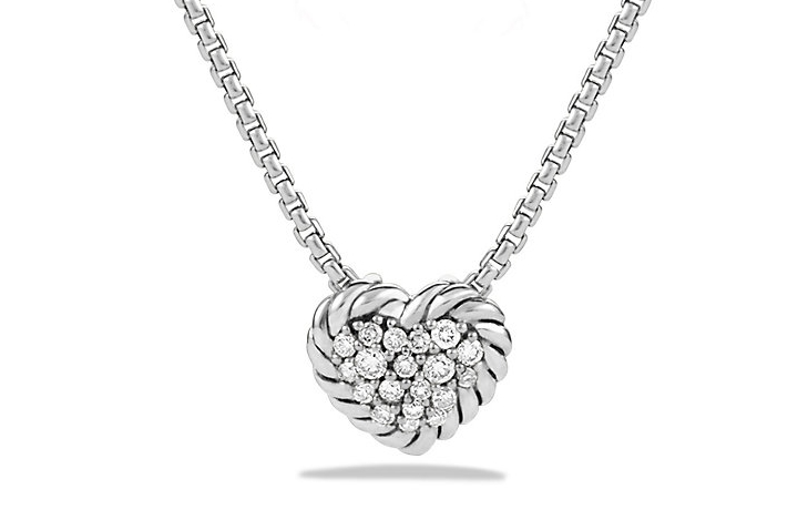 David Yurman Chatelaine Diamond Heart Necklace
