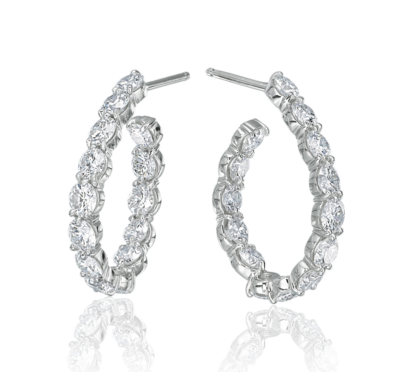 Gumuchian Diamond J Hoops