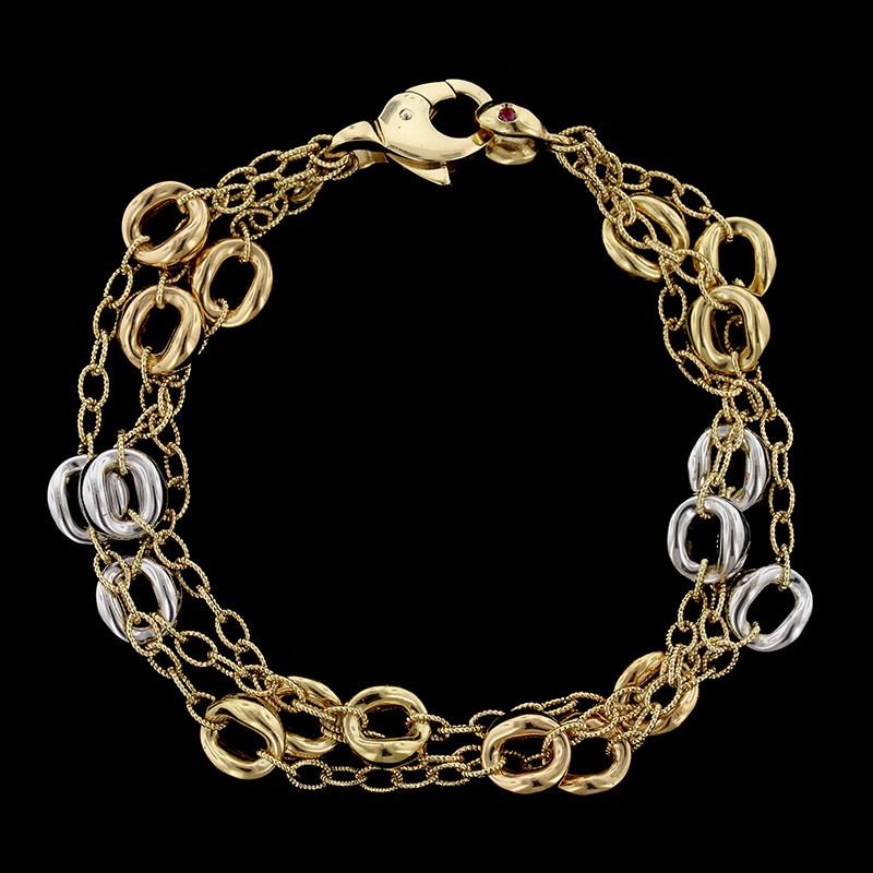 18K Tricolor Gold Bracelet