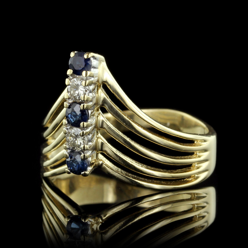 6 Mesmorizing Gold & Sapphire Estate Pieces