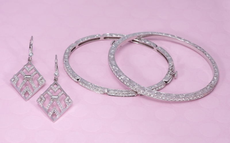 Jewelry Set By Long's Jewelers To Match Wedding Dress Neckline Trend: The Double Strap