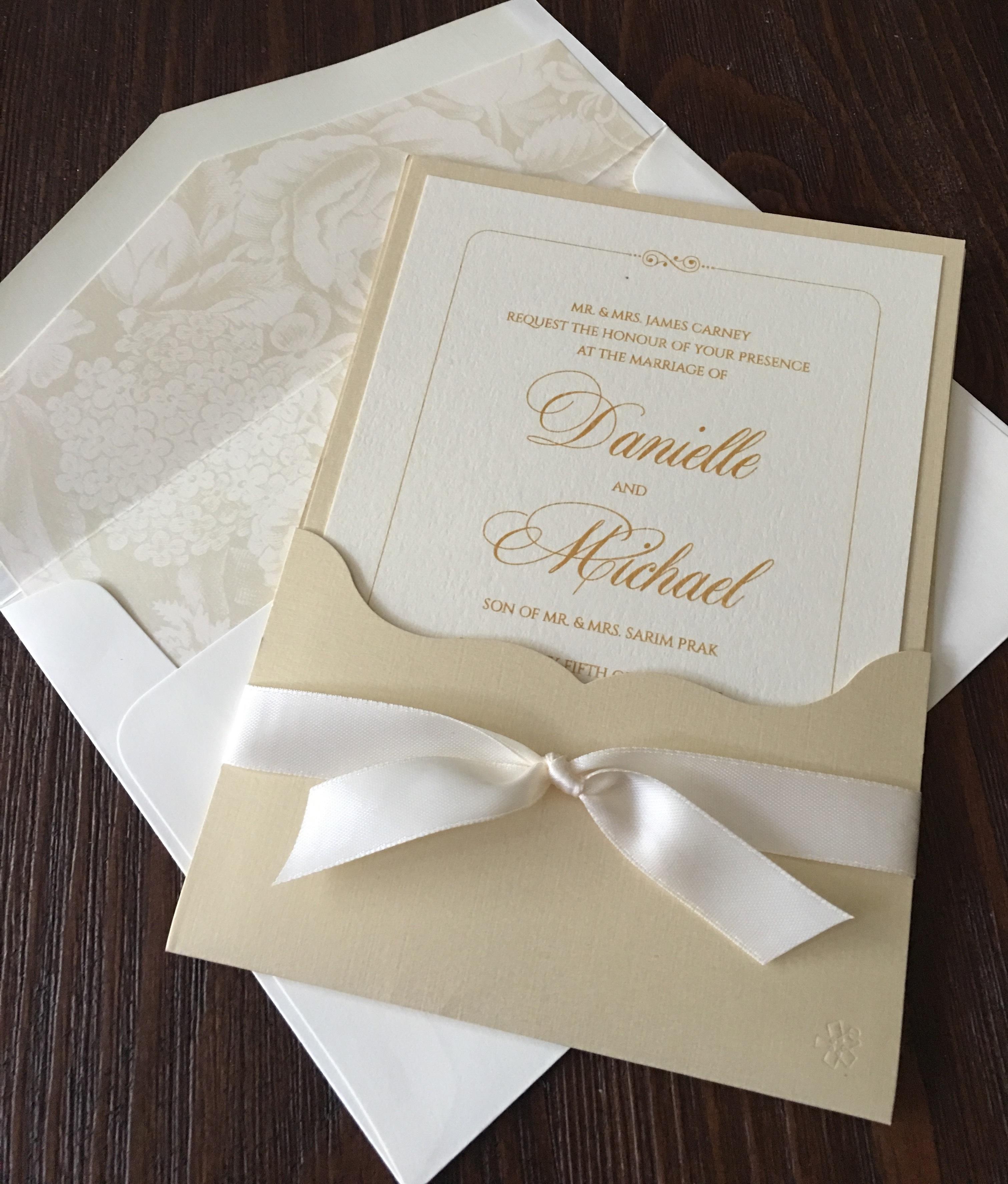 Wedding Invitation Trends Inner/Outter Pocket Invitations