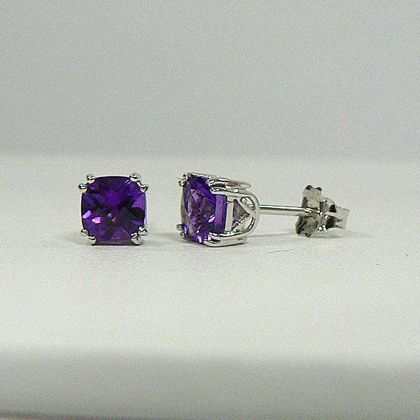 Long's Jewelers 5mm Amethyst Stud Earrings