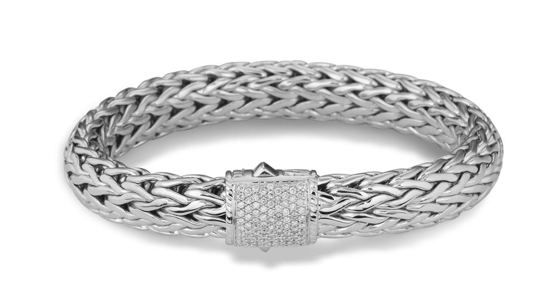 John Hardy Large Pave Diamond Classic Chain Bracelet