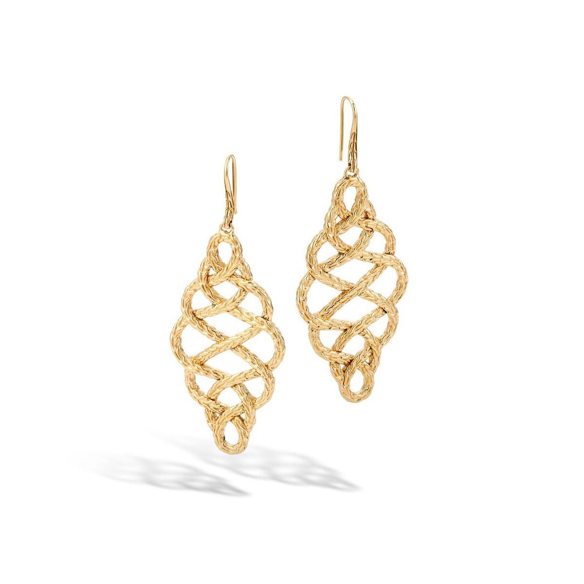 John Hardy 18K Yellow Gold Classic Chain Earrings