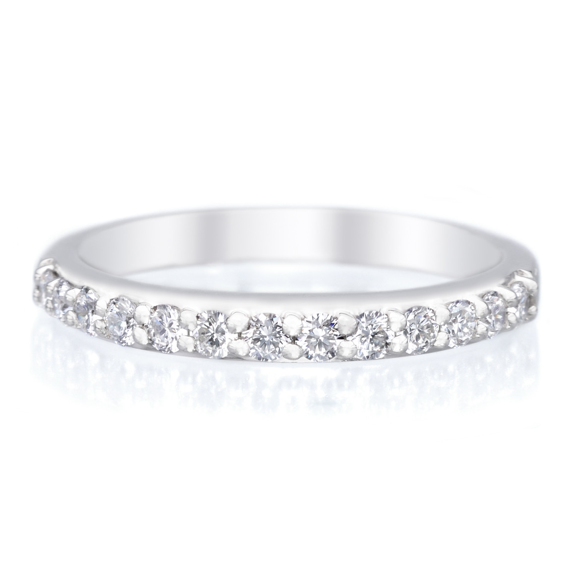A. Jaffe Platium Shared Prong 13 Stone Diamond Band