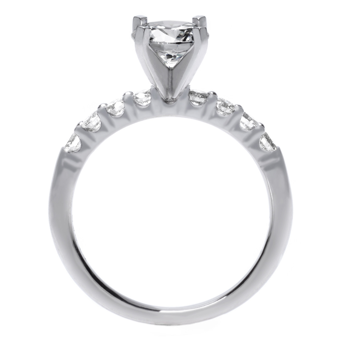 Long's Platinum Solitaire Eight Stone Diamond Engagement Ring