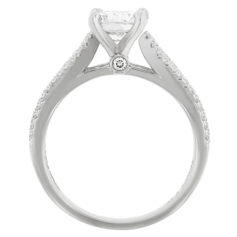 Platinum Radiance Diamond Solitaire Engagement Ring