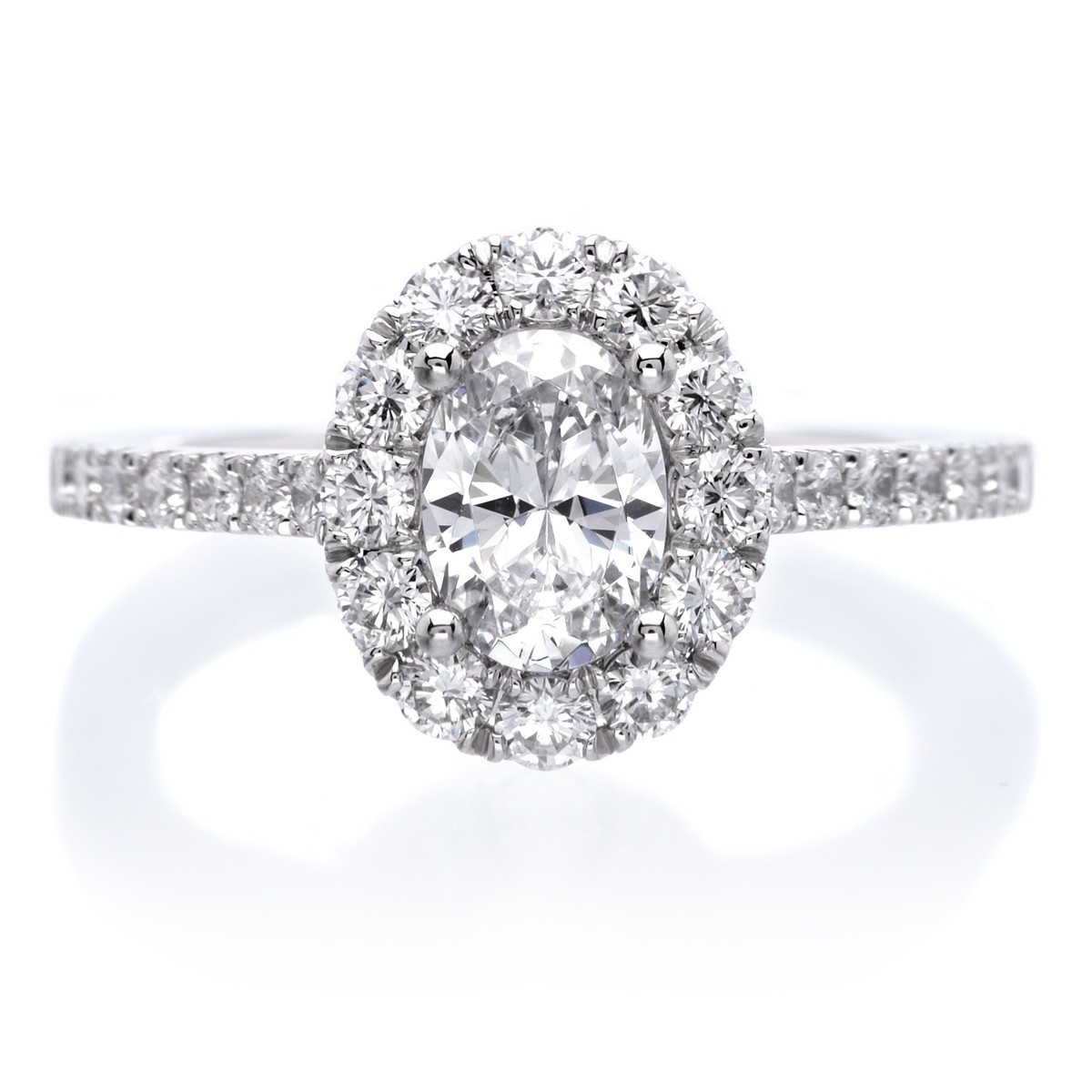 Sylivie classic halo diamond engagement ring
