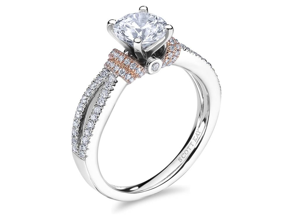 Split Shank Signature Accents Engagement Ring by Scott Kay