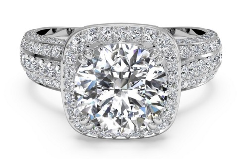 Add Extra Diamond Bands To Upgrade Your Halo Ring - Upgrade Your Engagement Ring