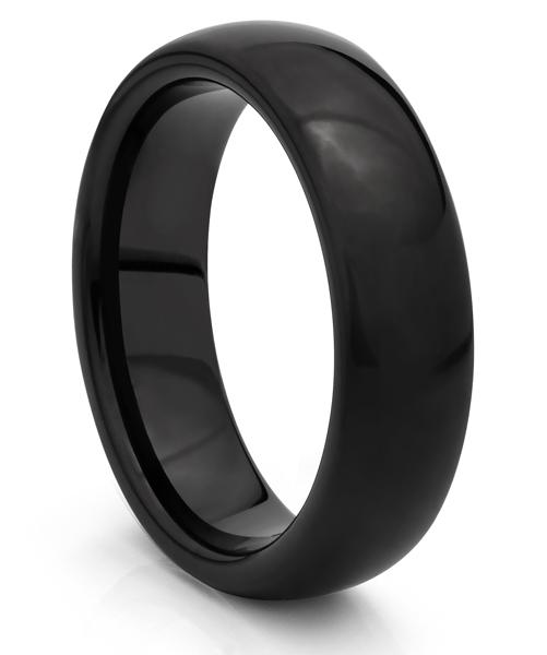 Tungsten Carbide mens wedding band