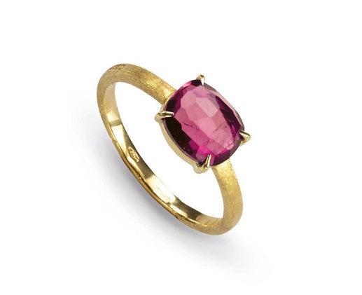 Yellow Gold and Pink Tourmaline Ring