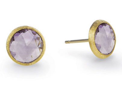 Marco Bicego Jaipur Amethyst Studs in 18K Yellow Gold