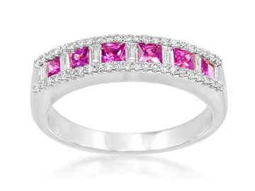 10 Creative Wedding Bands with Colored Gemstones
