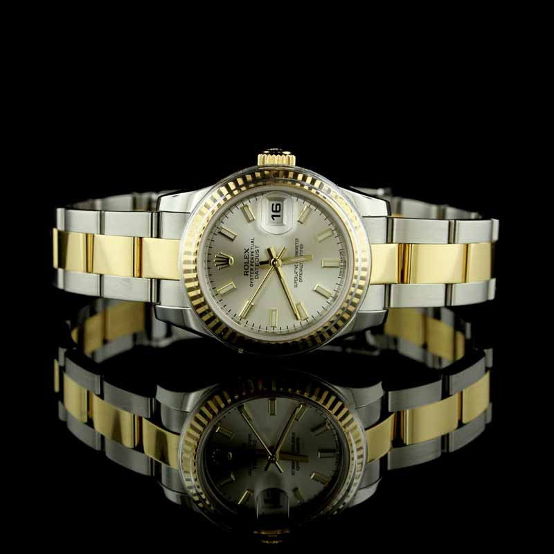 Rolex 18K Yellow Gold and Stainless Steel Oyster Perpetual Datejust Watch