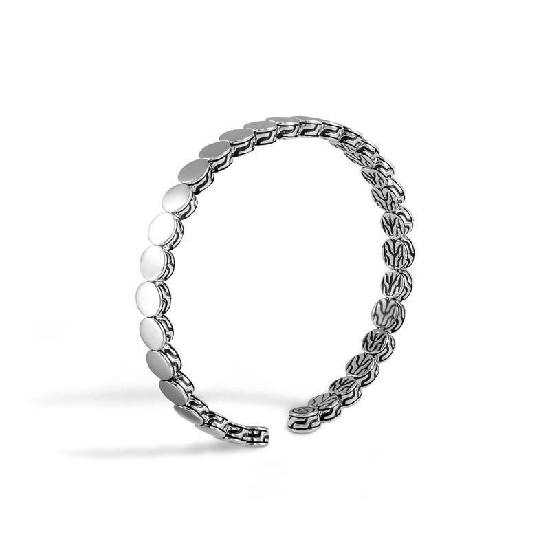 John Hardy Sterling Silver Dot Flim Flex Cuff Stacking Bracelets