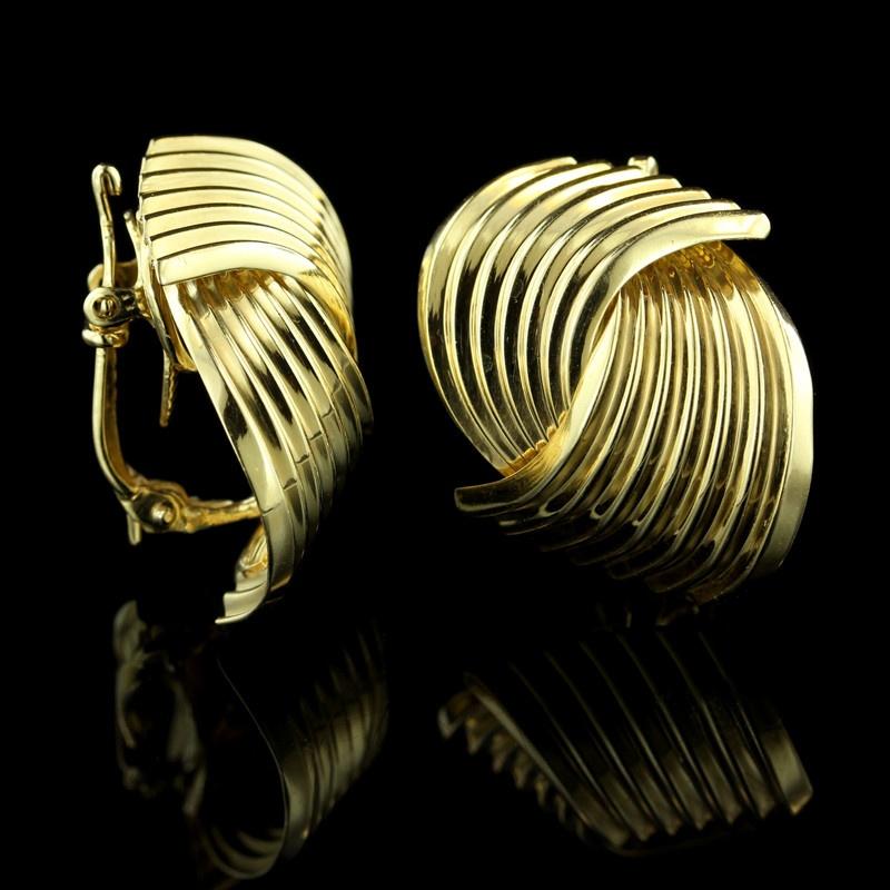 Vintage Tiffany & Co. 14K Yellow Gold Earrings