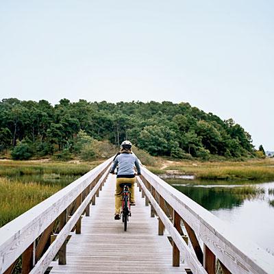 Most Romantic Proposal Locations in Cape Cod Rail Trail Wood Bridge