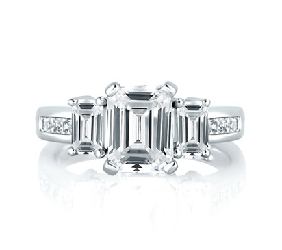 Princess Cut Channel Set Engagement Rings 9