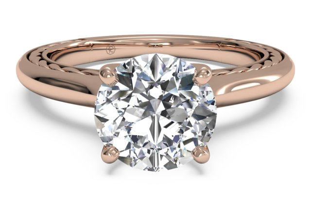Solitaire Diamond Braided Engagement Ring by Ritani