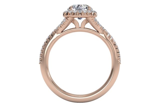 French-Set Halo Diamond
