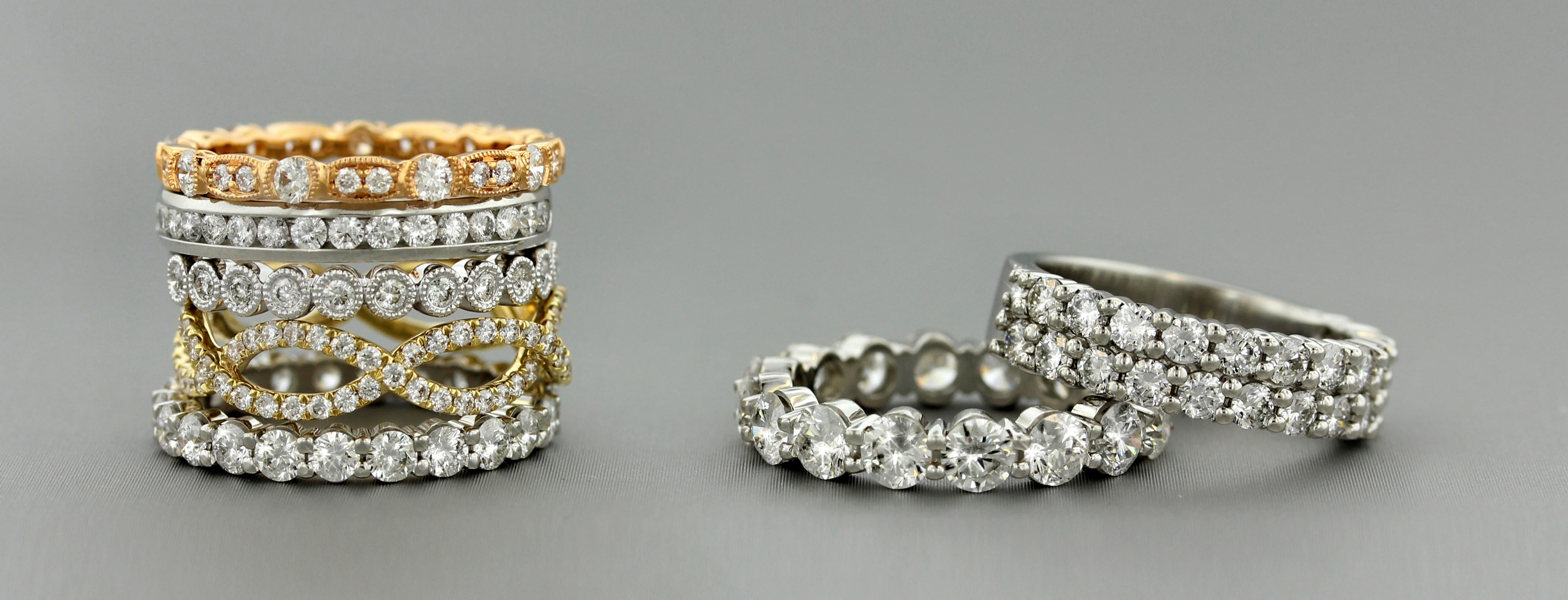 Stackable Eternity Bands
