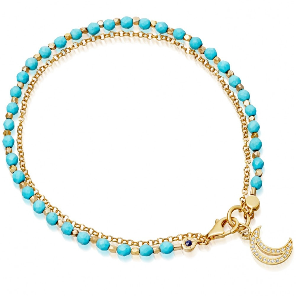 turquoise moon biography bracelet